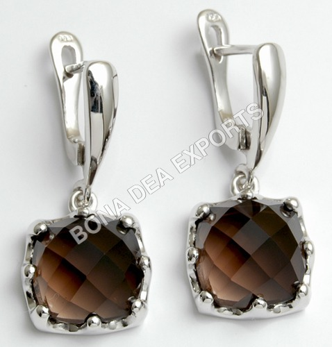 Brown Rose Earrings