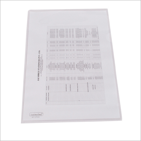 L-SHAPE CLEAR FOLDER