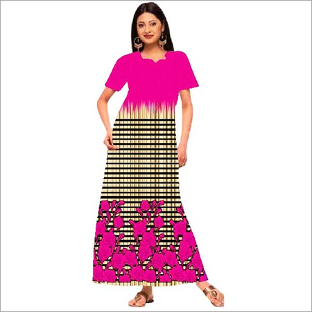 Fancy Cotton Printed Gown