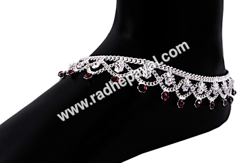 Silver Plated Anklets