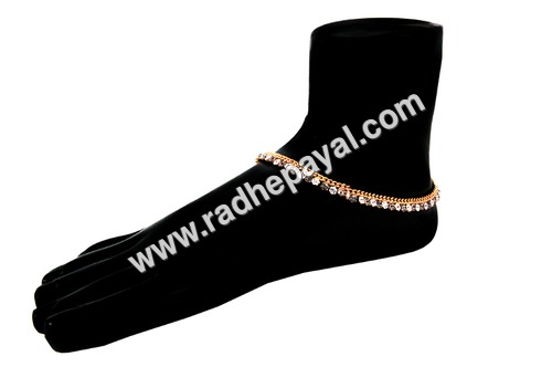indian gold plated payal