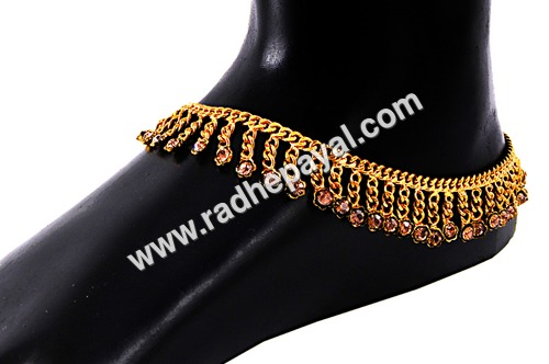 gold plated wedding payal