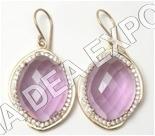 Lavender Moonlight Earrings