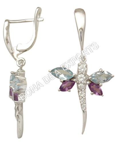 Luminious Dragonfly Earrings