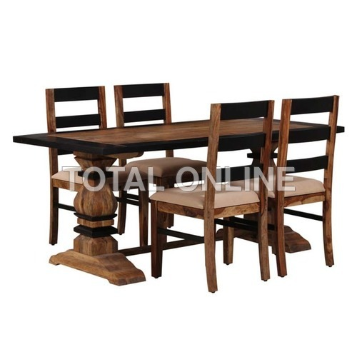 Artistic Wooden Dining Table Set