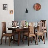 Black Wooden Dining Table Set