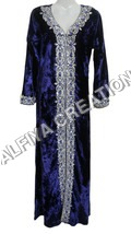 Velvet Long Length Maxi Dress Kaftan