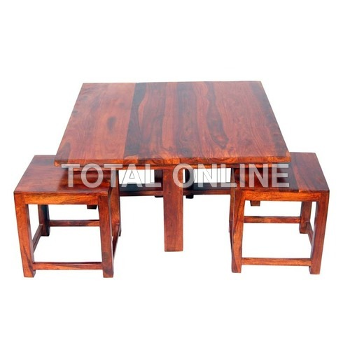 Trendy Four Seater Dining Table With Square Chairs