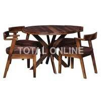 Wooden Dining Table With Sofa Style Chair