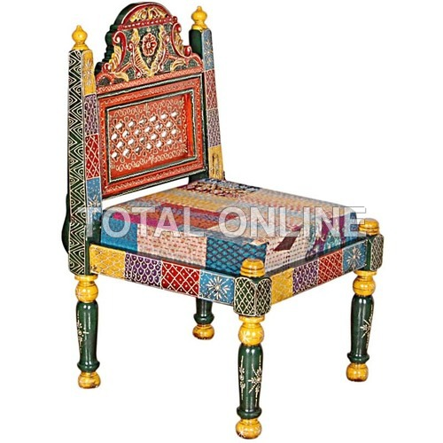 Wooden Chair Back Folding With Upholstery Seat