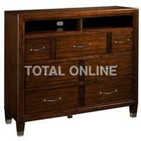 Dramatic Wooden Chest of Drawer