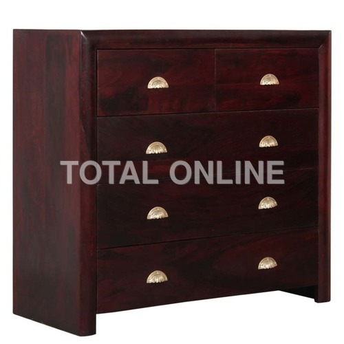 Stunning Wooden Chest of Drawer With Maroon Finish