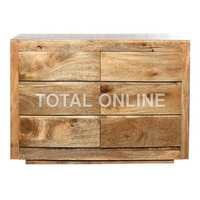 Graceful Wooden Chest of Drawer