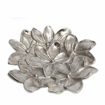 Aluminum Evergreen Flower Leaf Shape Platter