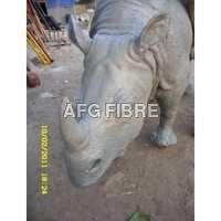 FRP Rhino Statue