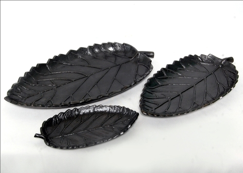 Rose leaf Shape Aluminum Platter