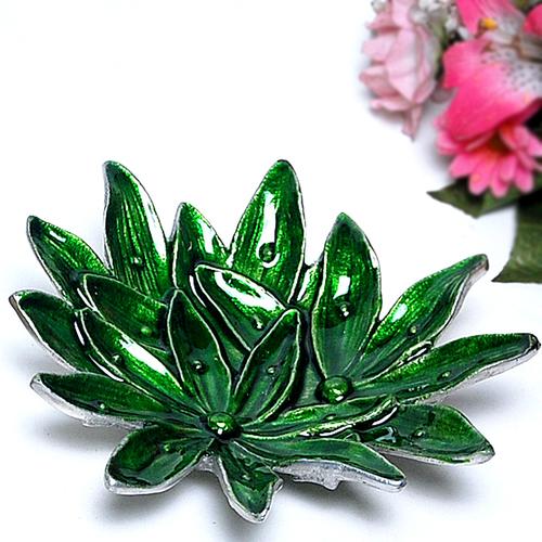 Green Lili Aluminum Platter