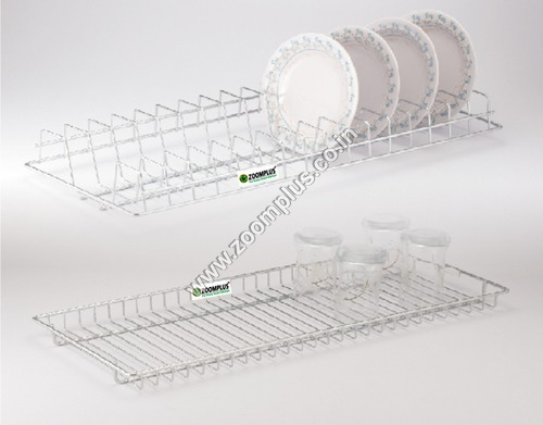 SS Glass Tray Plate Tray