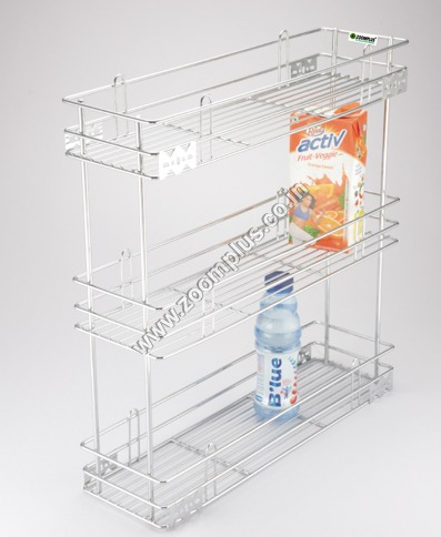SS Bottle Pullout 3 Shelf