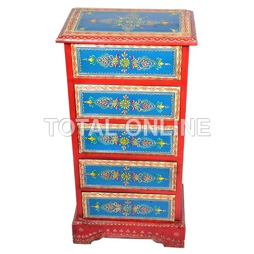 Wooden Handpainted Chest of Drawers