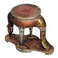 Wooden Peacock Style Table and Pot Stand