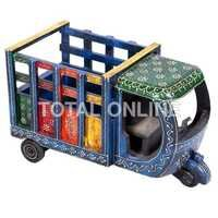 Colourful Handpainting Wooden Loading Taxi