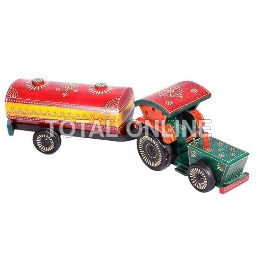 Striking Colorful Wooden Water Tank Tractor