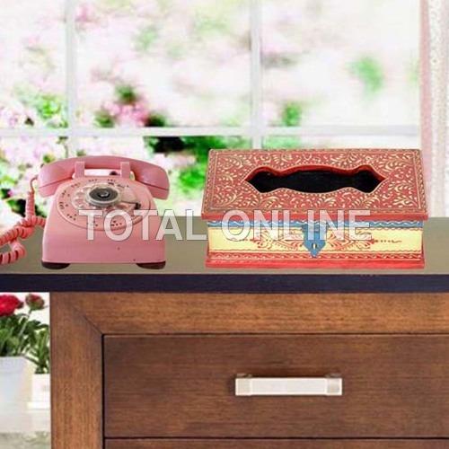 Unique Wooden Handpainted Tissue Box