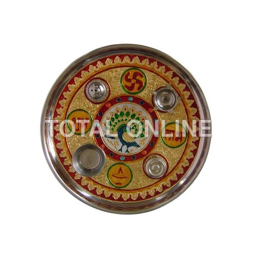 Well Decorated Aarti Plate