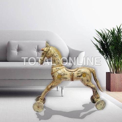Amazing White Horse on Wheels