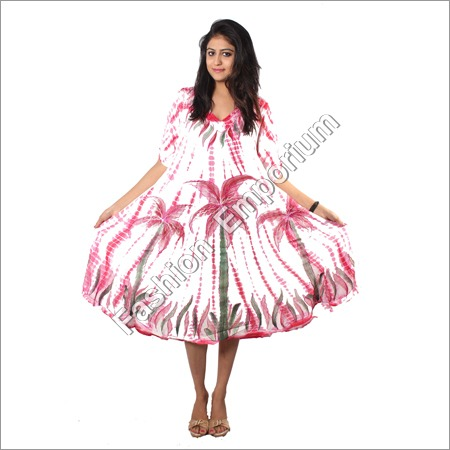 Stick Dye Hand Painted Umbrella Dress