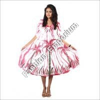Stick Dye Hand Painted Umbrella Dress