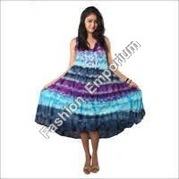 Super Dye Dress Without Sleeves