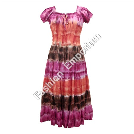 Cotton Long Dress (Puffy Sleeves)