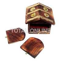Stylish Home Designed Coaster Set Made of Wood