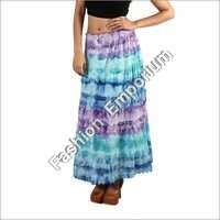 Super Dye Cotton Long Skirt