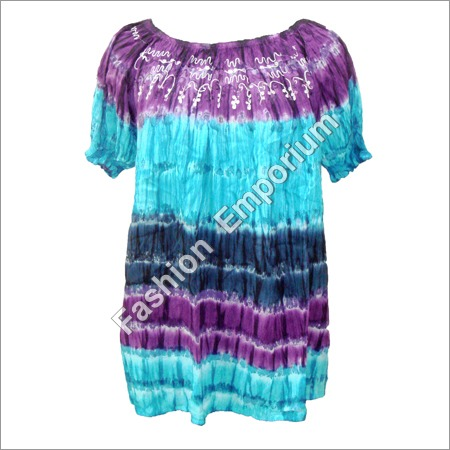 Super Dye Neck Elastic Top