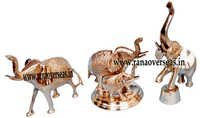 Brass Metal Decorative Elephant Set  HCB 2010-2020-2006