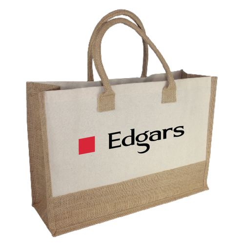 Jute Tote With Soft Padded Handle
