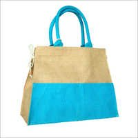 Jute Tote With Cotton Tape