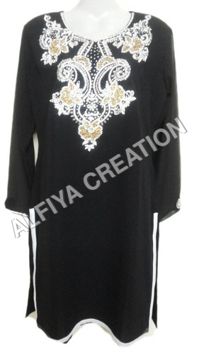 Black Beach Wear Tunic