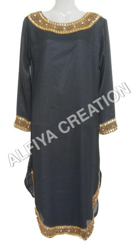 Long Length Antique Work Tunic Blouse