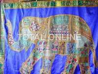 Appealing Elephant Print Wall Hanging