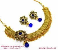 Necklace Set ,Designer Necklace ,polki Necklace set Antique Necklace, Fashion necklace