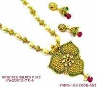 Polki Chain Pendant Set