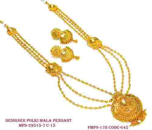 Polki Designer Chain Pendant Set