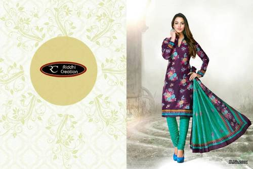 Cotton Printed Dress Materials Jetpur