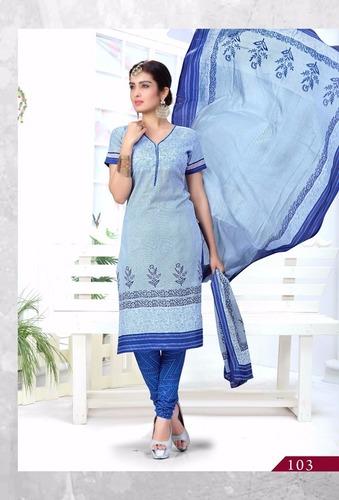 Ladies Pure Cotton Dress Materials Wholesale