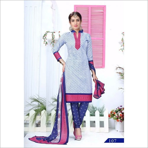 Printed Churidar Dress Materials Wholesale Online