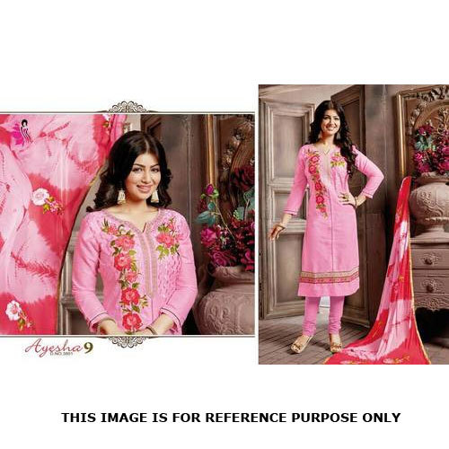 Long Style Embroidery Work Salwar Suits With Dupatta Work